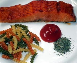 Easy fusilli con salmone - ingredients