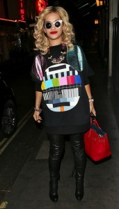 Rita Ora in test image shirt