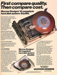 Harddisk - Morrow Designs DISCUS 10MB