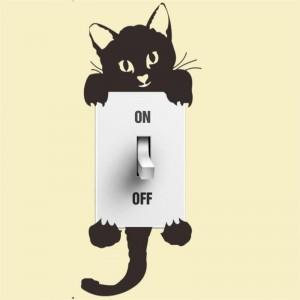 Black cat - light switch